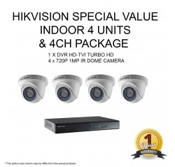 Hik HD-720P 4units+4Ch Plastic type Indoor Package